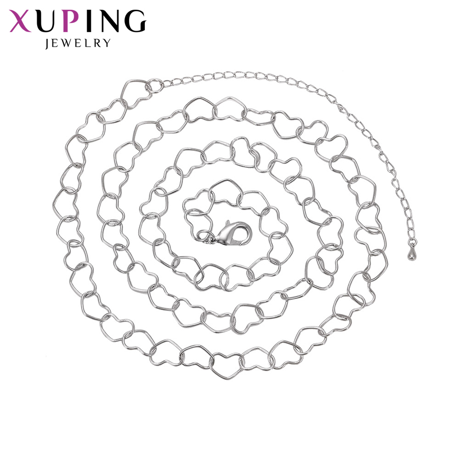 Xuping Fashion Simple Necklace New Design Long Necklace Women Men Chain Jewelry Top Sale Christmas Gifts S65-40801
