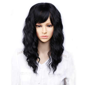 Amir Natural Wave Wigs with Bangs Synthetic Hair Wigs Natural Black Wig for Women - DISCOUNT ITEM  28% OFF All Category