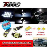 11x LED Car Auto Interior Canbus Dome Map Reading Light White 2835 Chips Kit For MK4