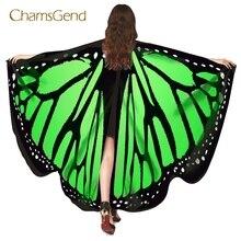 Chamsgend Прямая Горячая Бабочка крылья пашмины шаль Нимфа Пикси пончо женский костюм аксессуар 70925
