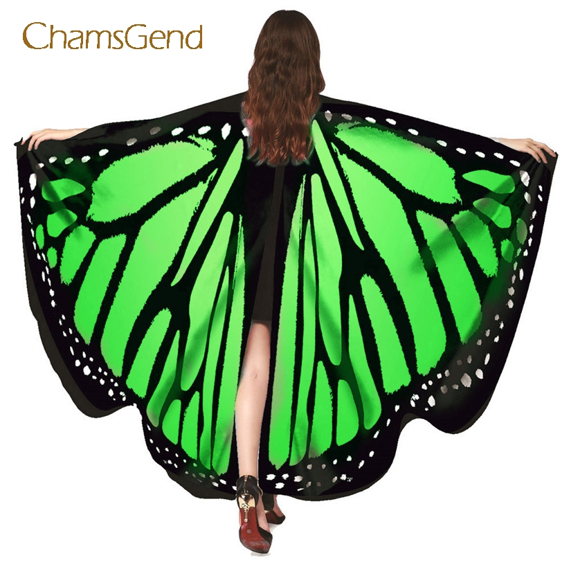 Chamsgend Drop Shipping HOT Butterfly Wings Pashmina Shawl Nymph Pixie Poncho Women Costume Accessory 70925