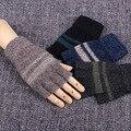 Luvas sem dedos Luvas Luvas de Inverno dos homens 4 Cores De Pulso Mão Mais Quente Mittens luvas Ao Ar Livre Luvas de dedos pecado B6223