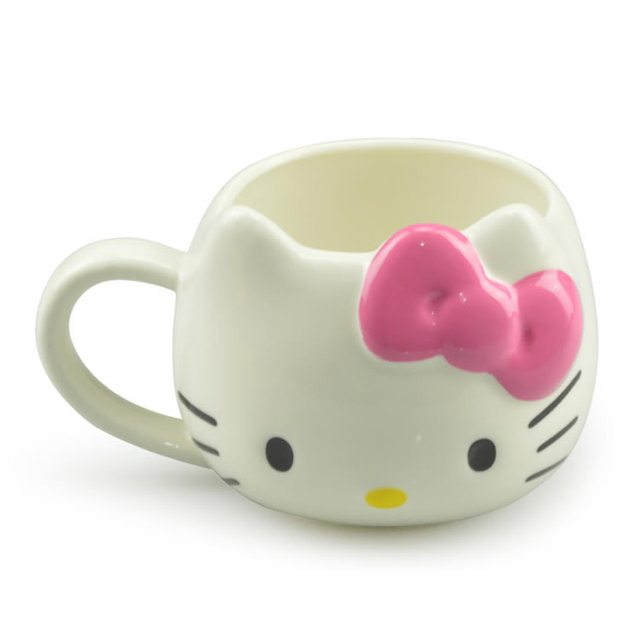 Hot Funny Cat Tea Cups and Coffee Mugs For Home and Office, Hello Kitty Mugs As Christmas Gift For Daughter Girl Friend 2