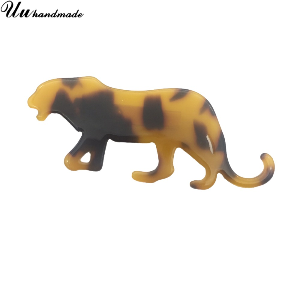 New Animal African leopard brooch hijab pins lapel pin broche christmas gifts brooches for women jewellery bisuteria broches-in Brooches from Jewelry & Accessories