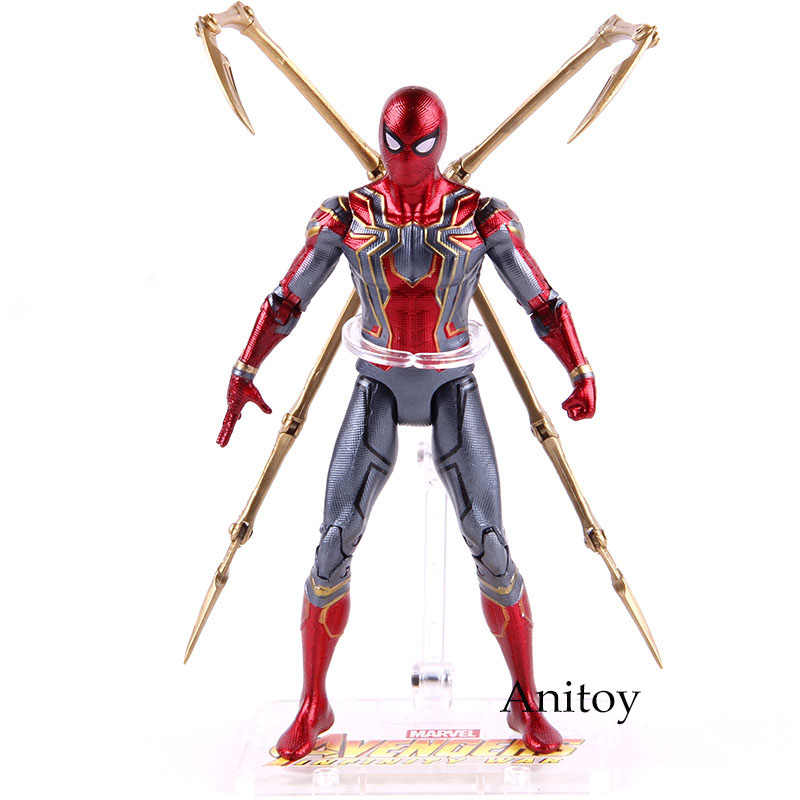 Hot Toys Marvel Avengers Infinito Guerra Ferro Aranha Spiderman Homem Aranha Figura de Ação PVC Figure Toy Collectible Modelo 17 cm