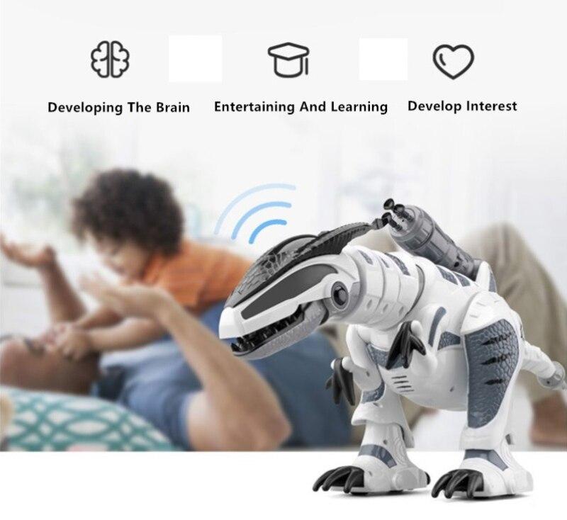 Juguete eléctrico para mascotas K 9 simulación de caminar RC Battle Animal Robot interactivo inteligente dinosaurio juguete con lanzamiento suave bala - 2