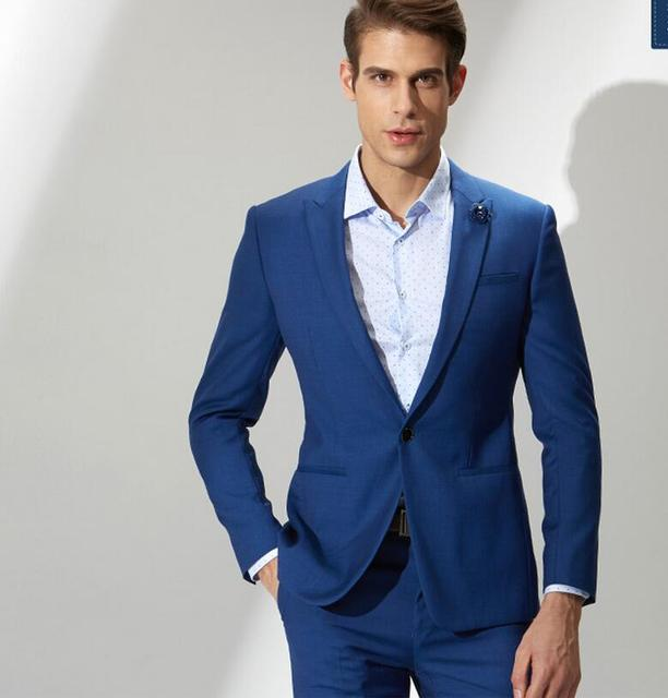 Classical Style Of Mens Suit Elegant Dark Blue Dress Formally Best