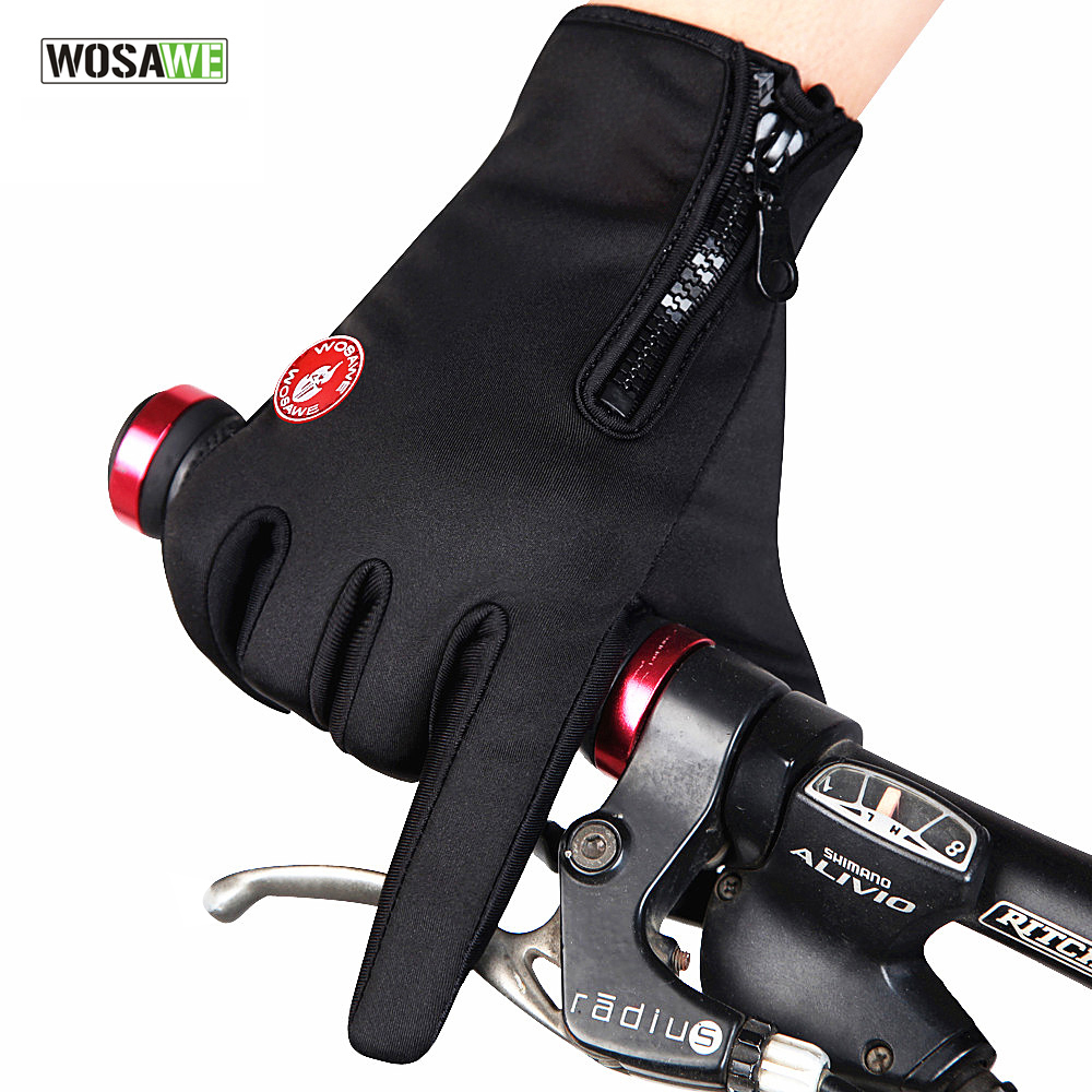 Motorcycle gloves discount - Wosawe Unisex Winter Running Gloves Motorcycle Racing Bike Cycling Full Finger Gloves For Outdoor Fun