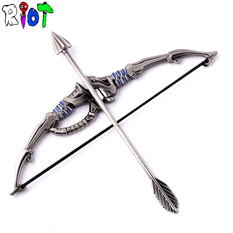game Overwatch OW Shimada Hanzo bow and arrow weapon Miniature model Metal Ornaments Desktop Decor men jewelry gift Dropshipping bracelet