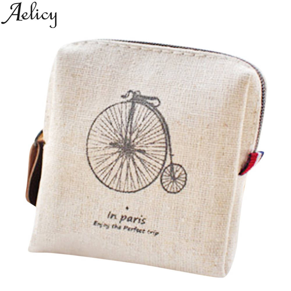 Aelicy Fashion Purse Women Small Storage Bags for Key Coin Purse Practical Canvas Daily Little Bags Travel Accessories Carteira