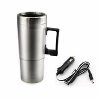 高品質12ボルトステンレス鋼車加熱カップミルク水茶コーヒー瓶ウォーマー温水トラベルマグ用旅行キャン