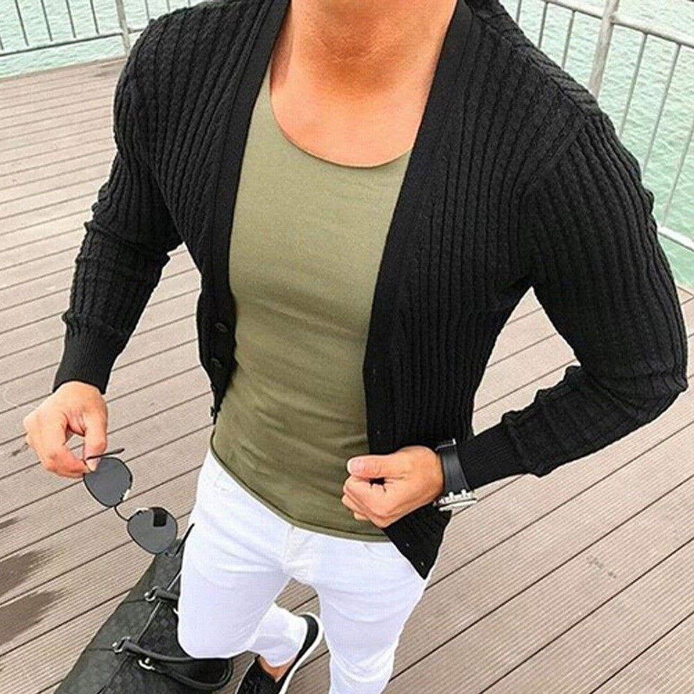 Sweater Cardigan Men 2018 Male Brand Casual Slim Sweaters Men Fit Long Sleeve Knitted Cardigan Men'S Sweater XXXL