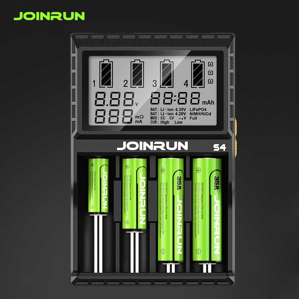 Joinrun S4 18650 Baterai Li-ion Charger Smart 18650 Battery Charger Li-ion/Ni-MH/Ni-cd 18650 14500 16340 AA AAA
