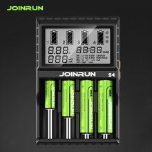 Joinrun S4 18650 Li Ion Batterij Oplader Smart 18650 Batterij Lader Voor Li Ion/Ni Mh/Ni Cd 18650 14500 16340 Aa Aaa
