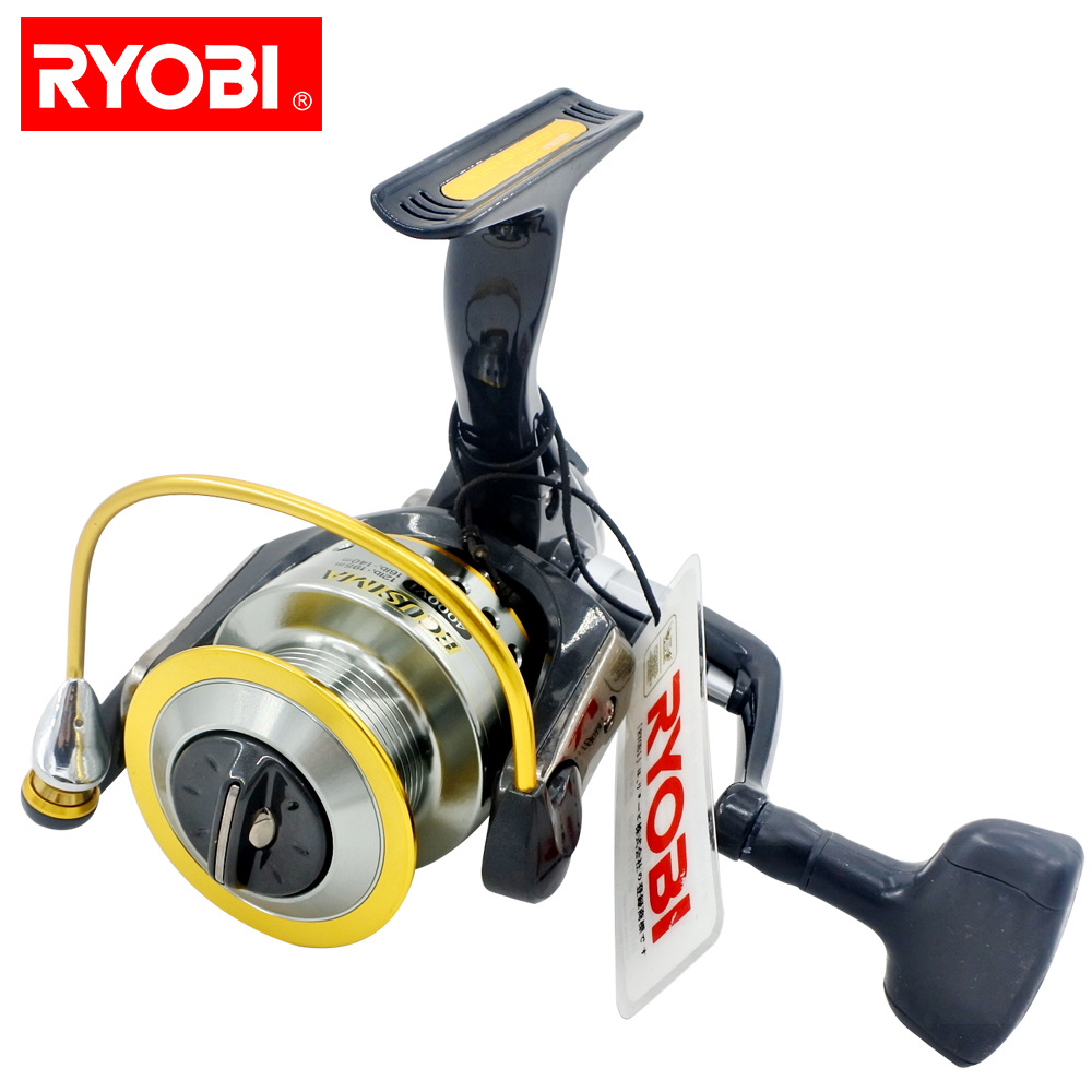 RYOBI ECUSIMA Original fishing reel spinning reel 4+1 bearings 5.0:1/5.1:1 Ratio 2.5KG-8KG Power Japan reels Aluminum Spool kastking kodiak 2016 hot sale 2000 5000 series aluminum spool superior ratio 5 2 1 spinning fishing reel spinning reel