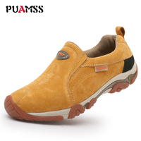 New High Quality Brand Men Shoes Genuine Leather Loafers Casual Shoes Breathable Spring Autumn Outdoor Non