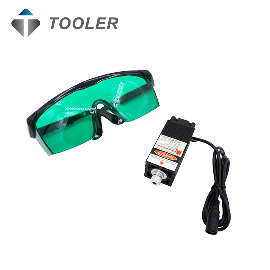 500mw 405NM blue purple laser module focusing laser engraving laser tube Laser module diode in Woodworking Machinery Parts from Tools