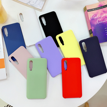 Fashion Silicone Case For Xiaomi Mi 9 SE Matt Soft Cover Shockproof Shell Korean INS stylish Yellow Green Purple White Blue