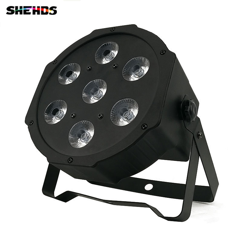LED Flat Par 7x3W White Color Stage Lighting 7 Channels Business Lights High Power Light with Professional for Party Disco DJ hot ac 90 240v 54 x 1w rgb led stage light high power flat par light led stage lighting projector lamp for party ktv disco dj