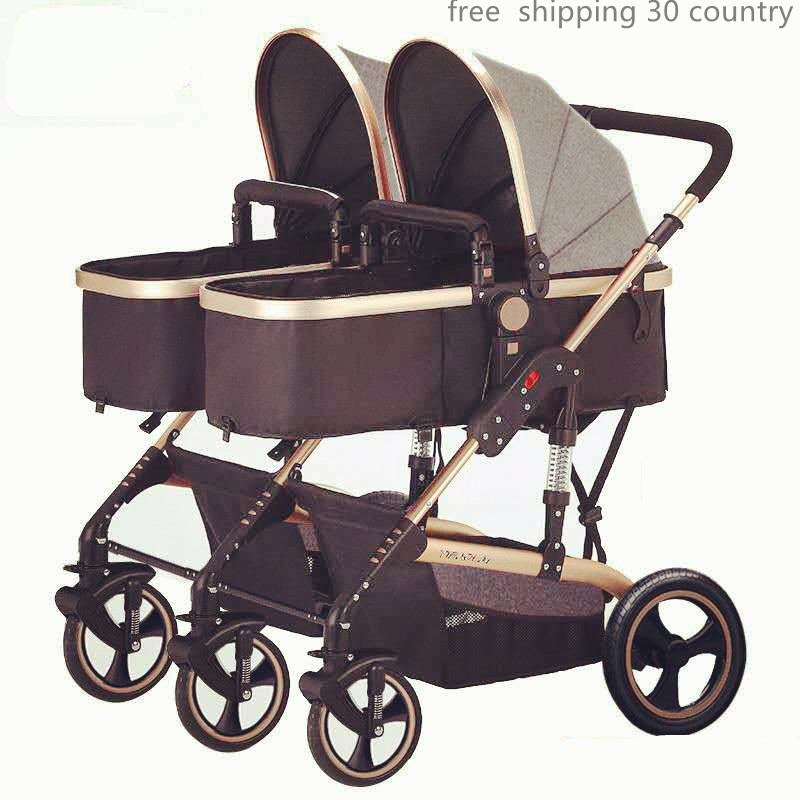 Us 218 96 8 Off Twin Stroller Bugaboo Donkey Brand Mother Face Side By Side Twins For Second Baby Fold Pram In Mutiple Stroller From Mother Kids