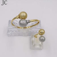 Good Quality Dubai Gold Jewelry Sets 24K Bangle Ring Sets For Women On Party And Wedding