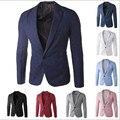 Дешевый мужчины пиджаки Осень зима популярные slim Fit мужчины костюм куртка Мода повседневная мужская Мужской блейзеры пальто 9 стиль Бесплатный доставка