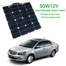 Efficiency Flexible Travel Energy Solar Panel DIY Battery Charger USB Mobile 12V 50W for Power Bank Supply Travelling For Phones