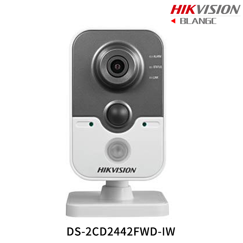 In Stock Hikvision English Mini Wifi Camera DS-2CD2442FWD-IW 4MP IR Cube IP Camera PoE built in Microphone Day/Night CCTV Camera free shipping ds 2cd2442fwd iw english version 4mp ir cube network cctv security camera mini wifi ip camera poe 10m ir