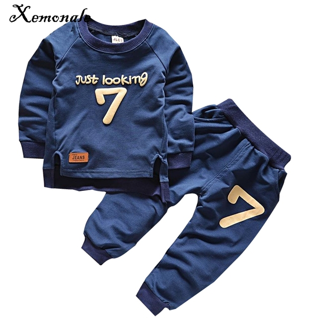 Xemonale 2-6 Autumn Children Clothing Sets Boys Girls Warm Long Sleeve Sweaters+Pants Fashion Kids Clothes Sports Suit for Girls