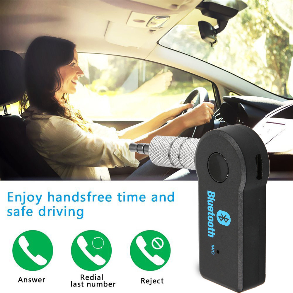 Kebidu Stereo 3.5mm AUX Bluetooth Wireless Receiver Adapter Handsfree For Car Music Audio A2dp