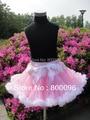 Оптовая продажа 2015 детей юбки розовым бантом джинсовые юбки из юбки дети фантазия PETS-033