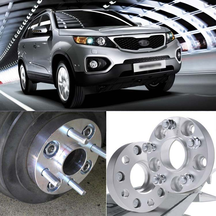Teeze 4pcs <font><b>5X139.7</b></font> 95.3CB 30mm Thick Hubcenteric Wheel Spacer Adapters For Kia Sorento 2002-2009 image
