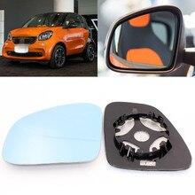 Для Benz smart fortwo большое поле голубое зеркало анти Автомобильное зеркало заднего вида широкоугольный светоотражающий объектив заднего вида