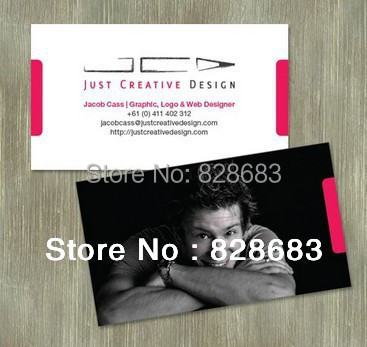 500pcs Double faced printing Business Paper Card with matte lamination film /300gms