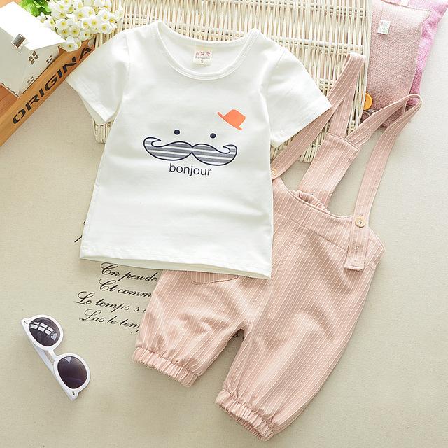 Summer Boys Clothing Set Top & Jumpsuit