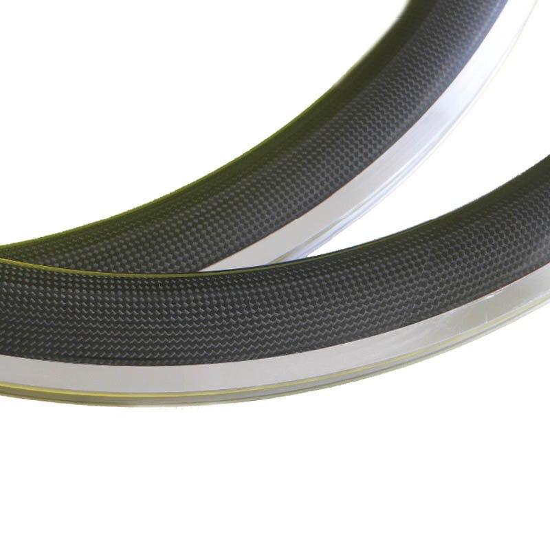 Roues en carbone 700C vélo de route 38mm 50mm 60mm 80mm profondeur 23mm largeur vélo vélo jantes en alliage d'aluminium anneau de frein pneu 3 K/UD