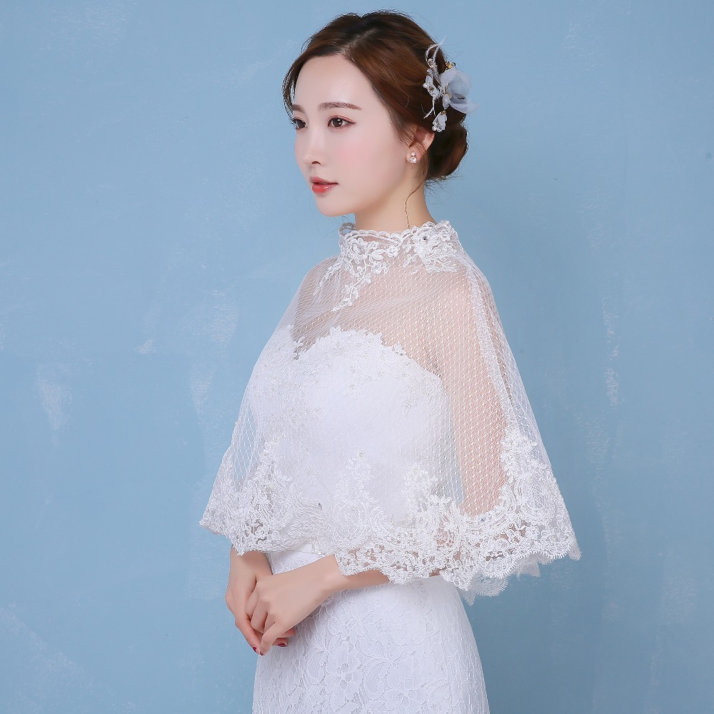 Dots Tulle Ivory Wedding Party Cape Summer Bridal wrap wedding Women ...