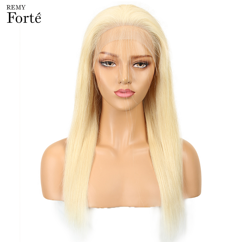 us $88.34 47% off|remy forte lace front human hair wigs blonde lace front wig 613 human hair 150% density human hair wigs 14/16/18 inch human wigs-in