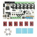Geeetech venta caliente impresora 3d tarjeta de control kits Rumba + 6 X A4988 stepper conductor + 3 XHeatsink + sticker envío gratis