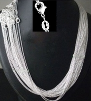 Promotion Wholesale Price 50pcs Lot 925 Stamped Silver Plated 1mm Link Rolo Chains 16 18 20