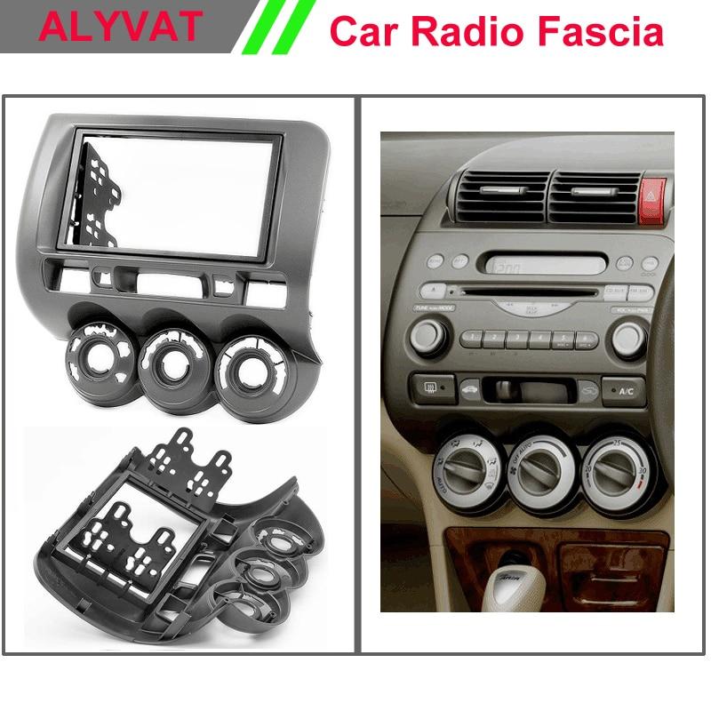 Car DVD CD radio facia surround install trim fit dash kit for Honda fit Jazz (Manual Air-Conditioning) (Right Wheel) 2-DIN