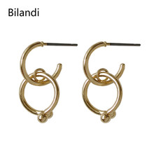 Fashion Statement Earrings Gold And Silver Simple Geometry Small Earrings Fashion Jewelry For Women цена