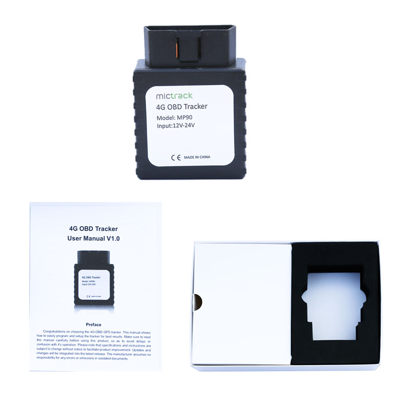 US $79 0 |Mictrack 4G OBD GPS Tracker MP90 Real 4G LTE Chip Plug & Play  Easy Install For Taxi/Assets/Vehicle Fleet Management-in GPS Trackers from