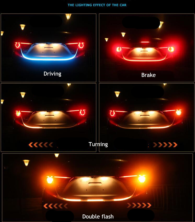 120cm-Car-styling-Tailgate-signal-light-strip-Red-Blue-Yellow-led-trunk-light-strip-kit-Turn