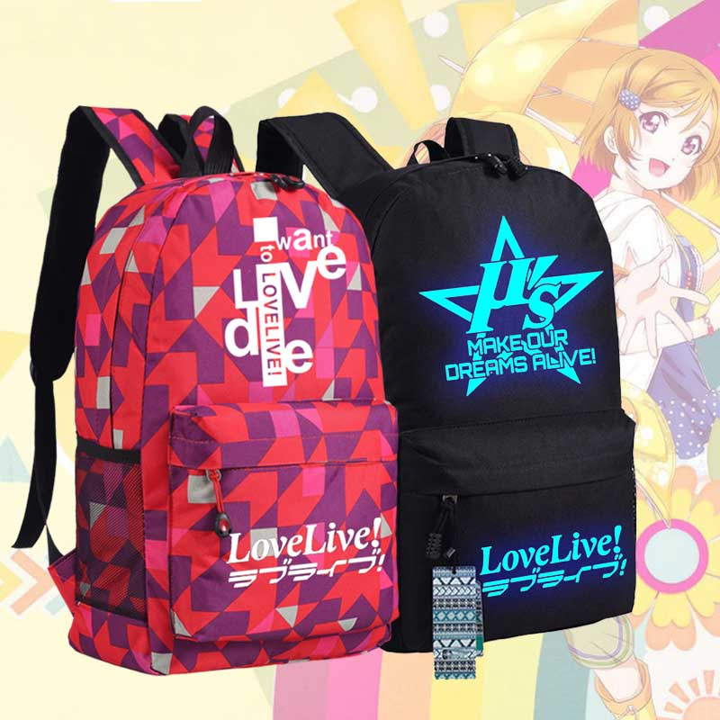 New love live Backpack lovelive Sonoda Umi Kotori Minami Anime oxford Schoolbags Unisex Travel Bag fluffy wave flaxen long love live white day kotori minami cosplay wig with ponytail