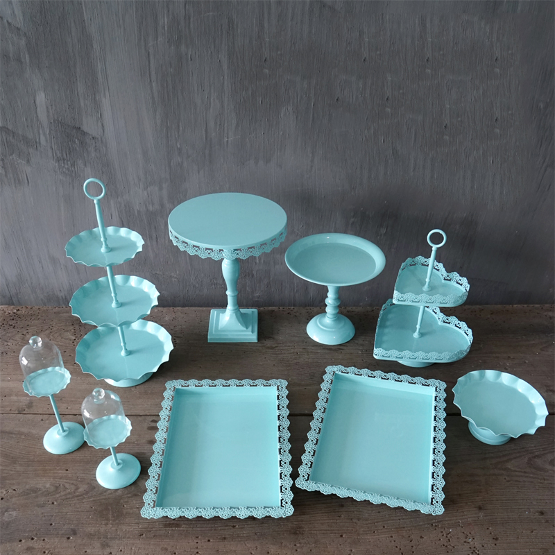 Wedding Cake Stand Blue