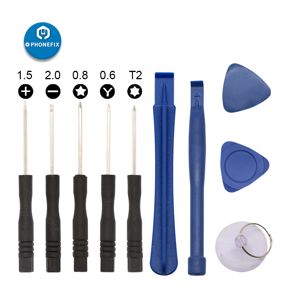 10 IN 1 DIY Phone Screen Disassembly Repair Tool Set Screwdrivers Plastic Triangle Pry Tool Suction Cup Crowbars Spudgers