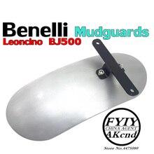 Benelli leoncino bj500 용 프론트 펜더 휠 익스텐션 머드 가드 오토바이 머드 가드