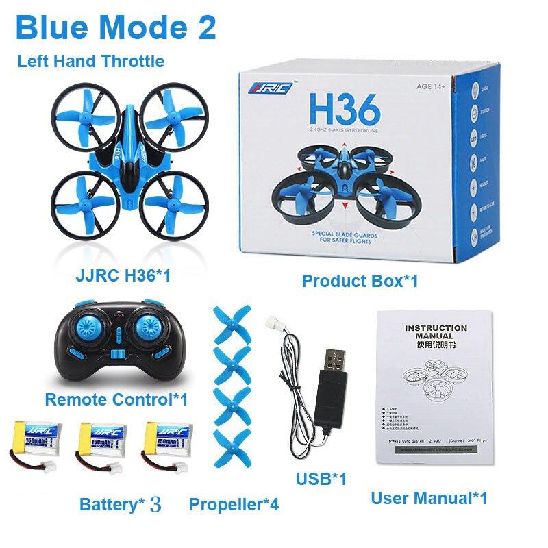 JJRC H36 Quadcopter Mini 2,4G 4CH 6-velocidad eje 3D Flip sin cabeza modo RC Drone juguete de regalo RTF VS Eachine E010 de batería