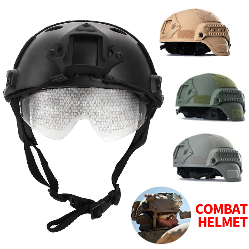 Airsoft Helmet Paintball Helmet Army Military Tactical Helmet Lightweight Memory Sponge Wilderness Survival For Outdoor Game